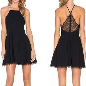 New LOVERS + FRIENDS M lace back dress black NWOT